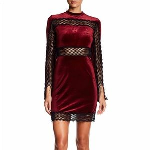 Romeo Juliet Crochet Trim Velvet Dress Holiday NWT